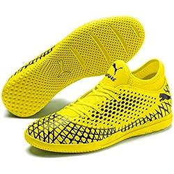 PUMA Future 4.4 IT, Zapatos de Futsal para Hombre, Yellow Alert Black, 39 EU