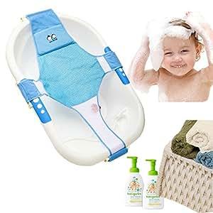 StillCool Badewannensitz Baby Badewanne Schätzchen neugeboren Badesitz Babybadewanne Sicherheitsbadesitz Unterstützung Babyparty Badezubehör (Blau)