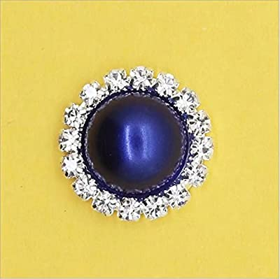Doyeemei 21mm Round Rhinestone Faux Pearl Glue on Flat Back Embellishment (Pack of 10pcs) : everything five pounds (or less!)