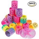 Goldge 24PCS Springs Magic Rainbow Lächeln Regenbogenkreis Regenbogen Strolche,Puzzle Lernspielzeug, Mitgebsel, Kindergeburtstag, Spielzeug,Party