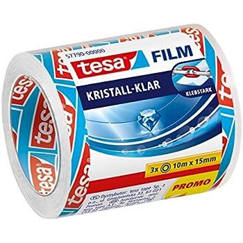 tesa film kristall-klar 8 Rollen Klebeband 33m 19mm stark Klebekraft 58260-00000