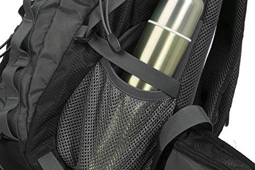 Diamond Candy rampicante d'escursione esterno in bicicletta impermeabile 40L zaino unisex alta capacità Daypacks borsa da viaggio sacchetto di alpinismoregolabilezaino trekking pieghevole. Nero