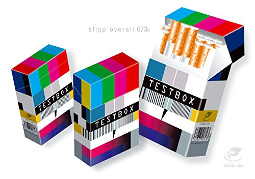 slipp overall TESTBOX origineller Zigarettenschachtel-Überzieher aus Karton mit Deckel (Motiv: 073 Testbox) 3 Zigaretten-etui