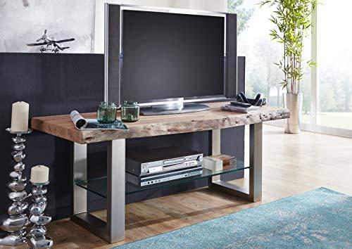 MASSIVMOEBEL24.DE Landhausstil Natural Stone lackiert Massivmöbel Holz massiv TV-Board massiv Holz Möbel Akazie Freeform #140