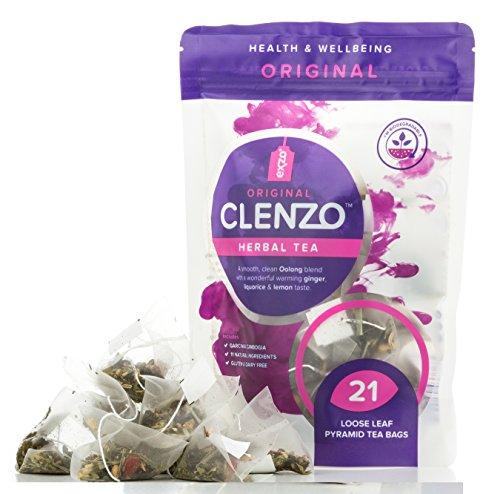 Detox Tee 7-21 Tage Entgiftung Teatox - Entschlackungstee Ganzkörper, Dickdarm & Leber reinigen - kein abführender Effekt - Exzo Clenzo
