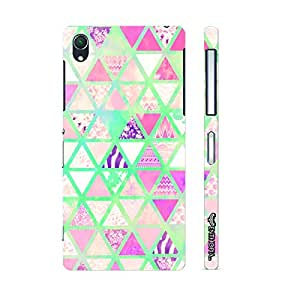 Sony Xperia Z2 Chevy Triangles designer mobile hard shell case by Enthopia