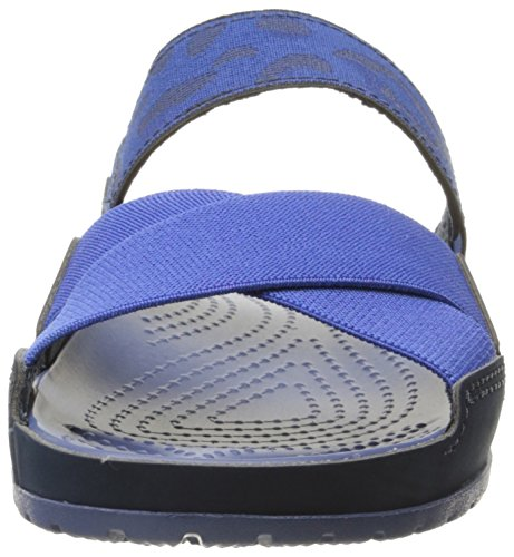 Crocs 203002, Ciabatte Donna Blu (Navy/Bijou Blue)