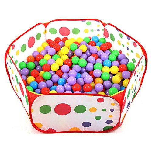 Ball pool, palla bambino piscina pieghevoli bambini popup pit balls piscina con cerchio di pallacanestro per i bambini indoor e outdoor (palline non inclus, 47 * 20 inch)