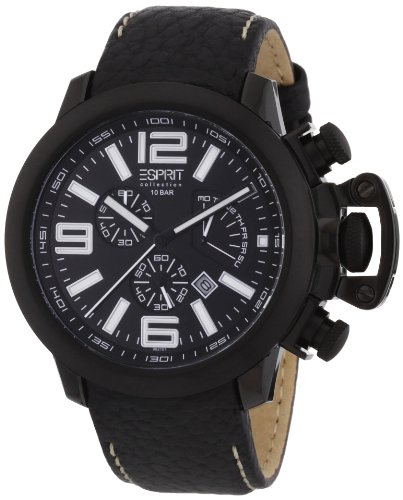 Esprit Herren-Armbanduhr Chronograph Leder EL900211004