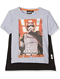 Star Wars Qe1028-Lgrey, T-Shirt Garçon