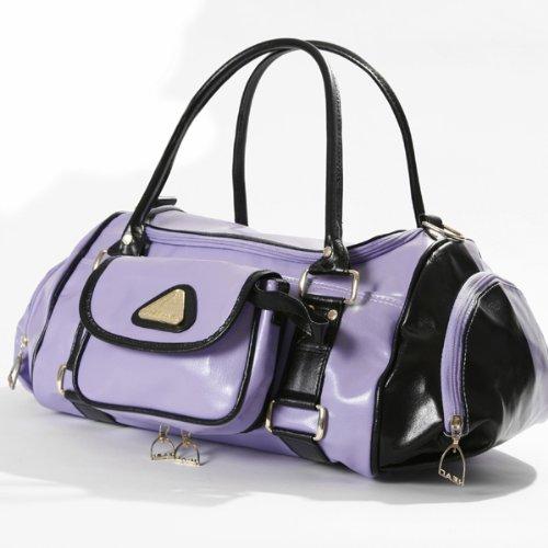 head-faux-leather-santa-fe-holdall-gym-bag-lilac-black-901260-rrp40