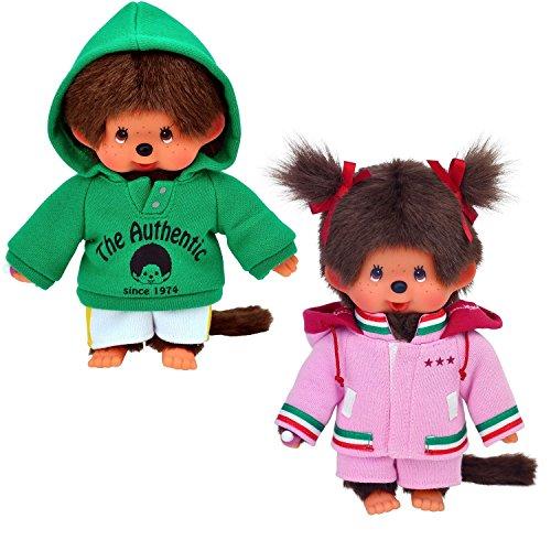 Preisvergleich Produktbild Sekiguchi - Monchhichi Mädchen und Junge im Parka - 20cm - 200530 200540