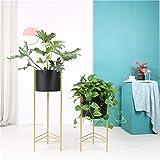 ZTMN Supporti per Piante in Vaso in Metallo - Fioriera ad Angolo per Piante da Interno Vaso per fioriera - Supporta banchi di Mostra per casa, Giardino, Ufficio (Vaso Non Incluso)