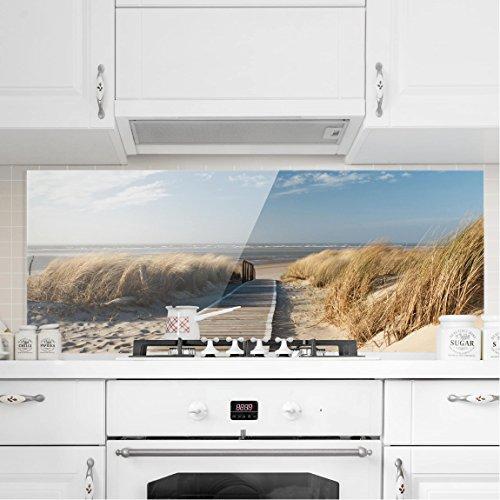 ... Bilderwelten Spritzschutz Glas   Ostsee Strand   Panorama Quer Wandbild  Küchenrückwand Küchenspiegel Küchenspritzschutz Glasrückwand Küche  Spritzschutz