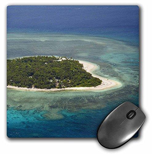 3drose Tavarua Insel und Coral Reef, Mamanuca-Inseln, Fidschi-Maus Pad, 8von 20,3cm (MP 140589_ 1) -