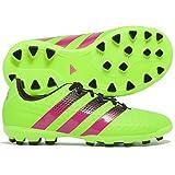 adidas Ace 16.3 AG J, Botas de Fútbol Unisex Infantil, Verde / Rosa / Negro (Versol / Rosimp / Negb