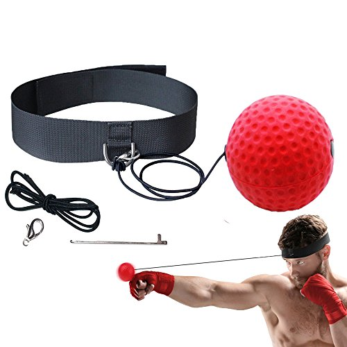 Boxing Reflex Training Ball, Punching Ball Fight Ball Speed Exercise Ball for Boxing, MMA, Martial Arts, Anti-Stress/Anti-anxiety