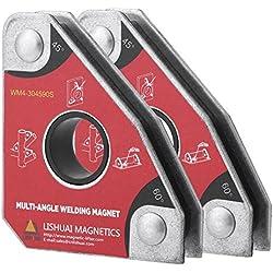 Aimant de Soudeur, 2 Pièces 30 °/ 60 °/ 45 °/ 90 ° Support d'Aimant de Soudure Multi-angles Porte-outils à Souder Accessoires de soudage pour l'Assemblée, la Soudure, et l'Installation de Tuyaux