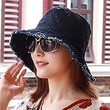 Sombrero de mujer Ms Cap Primavera Verano Pequeño Desgarro Fresco Hombres Parejas Sombreros para el Sol Sombreros Pescador Gorros de Cuenca Sombrero de copa plano ( Color : The blue/A , tamaño : - )