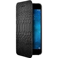 BigBen ETUIFCROCOIP64 Etui folio pour iPhone6/6S Effet Croco Noir