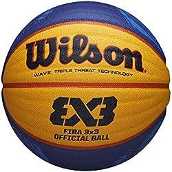 WILSON 3 x 3 Fiba Ballon de Basket-Ball, Unisexe Adulte, Jaune, 6