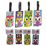 Cute Colourful Owl Pvc Luggage Tag Gifts, and, Cards Cards, idea Occasion, Gift, Ide