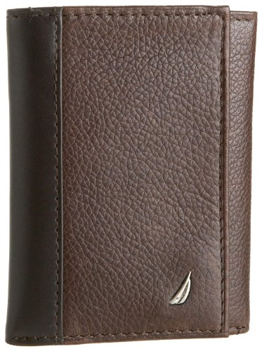 nautica-mens-milled-trifold-walletbrownone-size