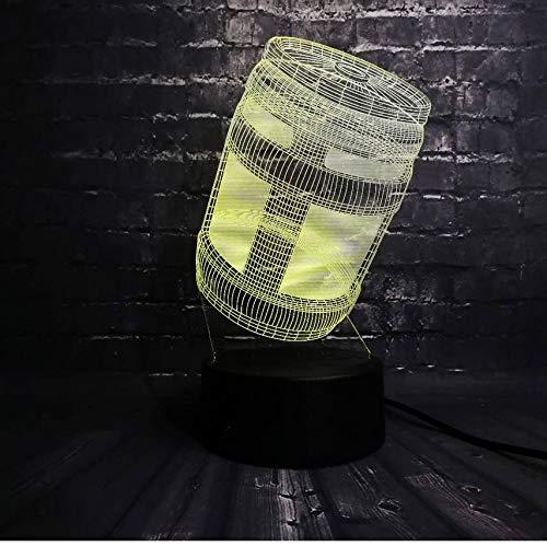 Acryl Stimmung Illusion 7 Farbwechsel 3D Spiel Der Stütze Tuckern Krug Led Nachtlicht Raum Tisch Dekor Usb Basis Geburtstag Kind Geschenk (Raum Halloween Dekor Spiele)