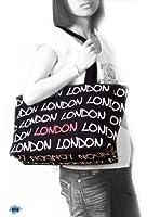 London Bag | Robin Ruth | Black / White / Red | Large | London Souvenirs | London Gifts