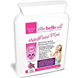 MenoPure Plus – Elle Belle UK – Natural Menopause Support Supplement and Vitamins- New Formula Now Includes Red Clover, Sage Leaf, Soya Isoflavones, Vit B6 and more - Made in the UK to GMP Standards - 100% Natural & Additive Free - 60 Capsules - Suitable for Vegetarians & Vegans
