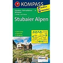 Stubaier Alpen: Wanderkarte mit Aktiv Guide, Panorama, alpinen Skirouten und Radrouten. GPS-genau. 1:50000 (KOMPASS-Wanderkarten, Band 83)