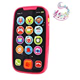 LUKAT Early Educational Baby Phone Baby Smartphone Toys for 12 Months Pretend Touch Phone with Sound and Music