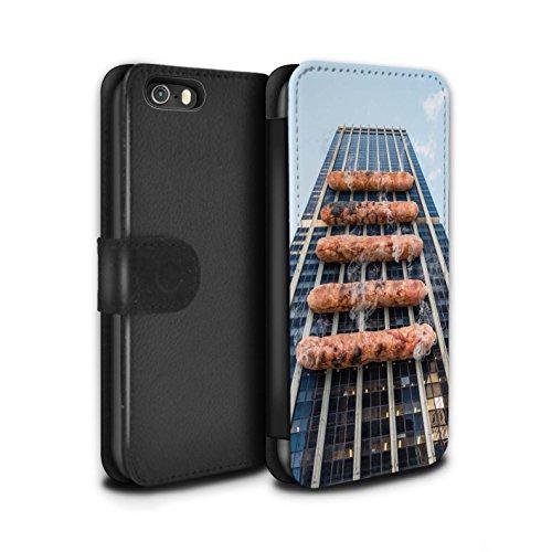 Stuff4 Coque/Etui/Housse Cuir PU Case/Cover pour Apple iPhone 5/5S / Travaux Routiers Design / Vers Bas Sous Collection Barbecue/BBQ