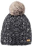 Barts Euny Mütze mit Bommel aus Kunstfell - Anthrazit - One Size