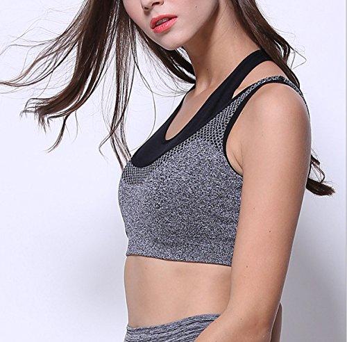 Femme Sans Jantes Sports Sous-vêtements Haute Résistance Antichoc Fitness Yoga Soutien-gorge green