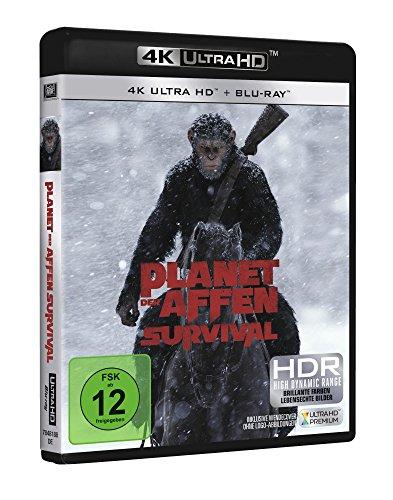 Seitenansicht Planet der Affen Survival Ultra HD Blu-ray Cover