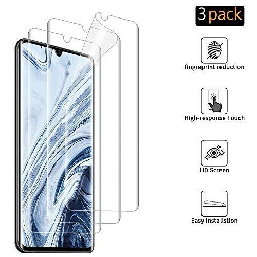 ANEWSIR 3 Pièces Protection d'écran pour Xiaomi Mi Note 10/Note 10 Pro sans Bulle/Film TPU Flexible Transparent HD pour Xiaomi Mi Note 10/Note 10 Pro Film Protection Écran