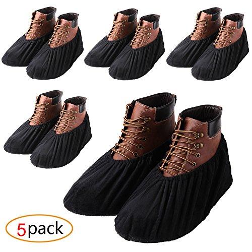 YOUTU Anti-Rutsch Schuhüberzieher,überschuhe überzieher Schuhüberzieher Shoe Cover Hülle,wiederverwendbar überschuhe Staubfrei,Für die meisten erwachsenen, unisex (5 Paare)