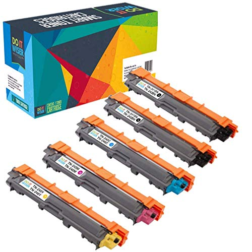 Cartuccia di toner Do it wiser Compatibile In sostituzione di Brother HL-3140CW DCP-9020CDW HL-3150CDW HL-3170CDW MFC-9140CDN MFC-9142CDN MFC-9330CDW MFC-9332CDW TN-241BK TN-245 (confezione da 5)