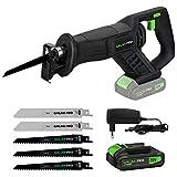GALAX PRO Scies Sabre sans Fil, Scie Alternative Avancée GALAX PRO 20 V Max avec Batterie au Lithium, Vitesse Variable, Indicateur de Batterie - 97705