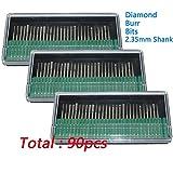 Cnmade Diamant-Frässtifte Bohrkronen, Glas, Edelstein, Metall für Dremel, Handwerker Drehwerkzeug, 90Stück