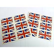 Mini Pack de pegatinas, 33x20mm RECTANGULAR, autoadhesiva Union Jack etiquetas, Gran Bretaña self-adheisve, Reino Unido GB PEGATINAS BANDERA