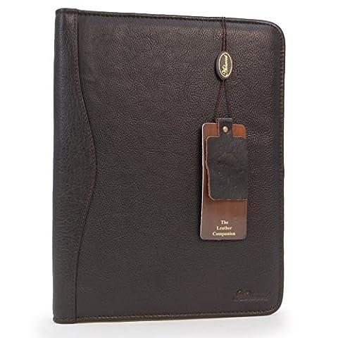 Ashwood Leather A4 Zip Folder - Brown