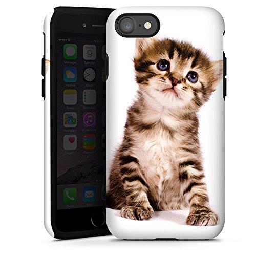 Apple iPhone 5c Hülle Premium Case Cover Katze Katzenbaby Kätzchen Kitten Tough Case glänzend