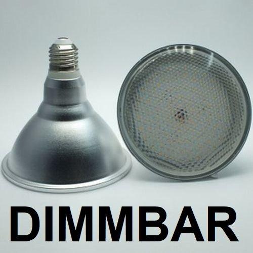 DIMMBARE 18 Watt PAR 38 LED Lampe, Strahler, Fassung E27, Lichtfarbe warmweiß 2700 Kelvin, 1500 Lumen entspricht ca. 150 Watt Glühlampe, 120° Ausstrahlwinkel. Schutzklasse IP44 für Innen und Außen