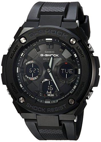 casio g shock orologio da uomo, al quarzo, in acciaio inox e resina, casual, colore nero, modello gst-s100g-1bcr