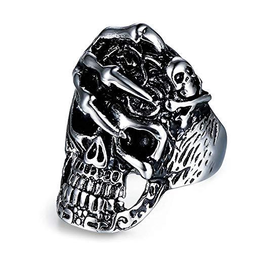Schädel Ring Männer Skeleton Schädel Titan Ring Herren Herren Ring Mode - Schädel-ringe-titan
