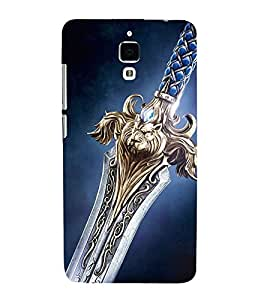 PrintVisa Designer Back Case Cover for Oppo R7 Plus (Blue Navy Lion Talwar Sword)