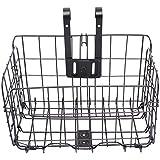 Hony Fahrradkorb Bike Basket Faltbares Abnehmbares Leinwandkorb Vorderkorb Aluminiumlegierung Rahmen Haustier Tragetasche Unisex Fahrradtasche Maximale Ladekapazität 10kg(22lb)