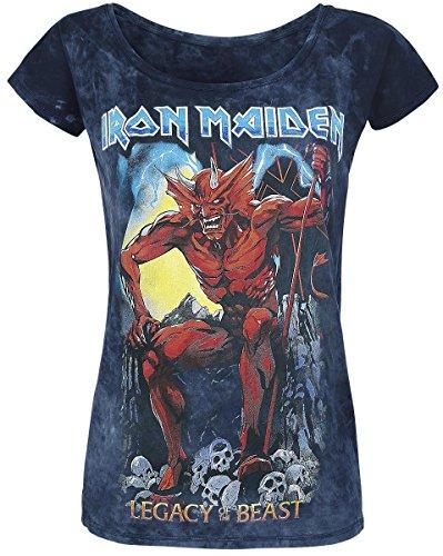 Iron Maiden Legacy of the Beast 2 Camiseta Mujer gris/azul marino XXL